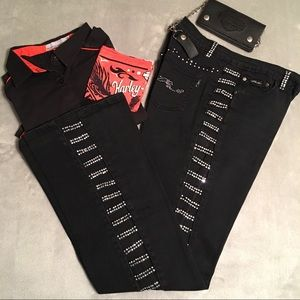 Denim - ➕Women's Size 17 Platinum Plush Black Denim Jeans